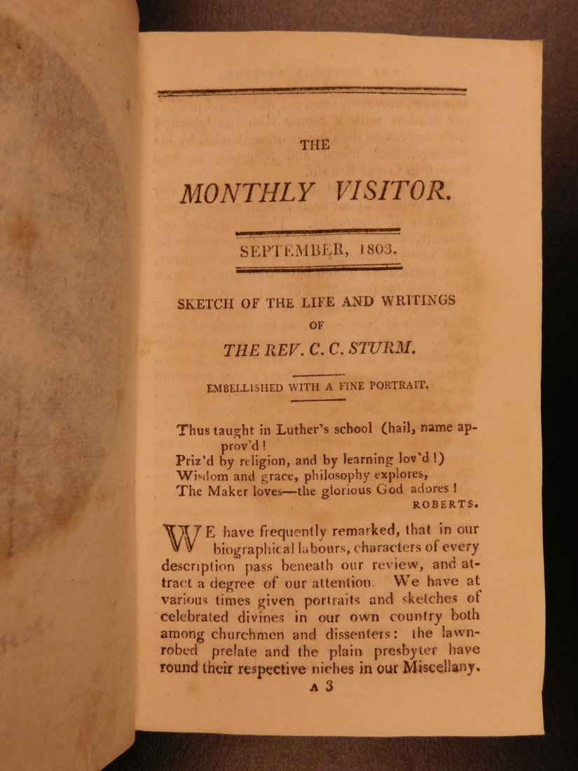 1803 Monthly Visitor & New Family Magazine London - 7