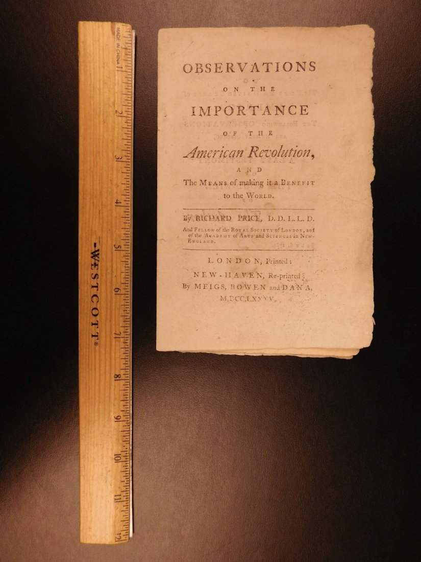 1785 1st ed RARE Importance of American Revolution