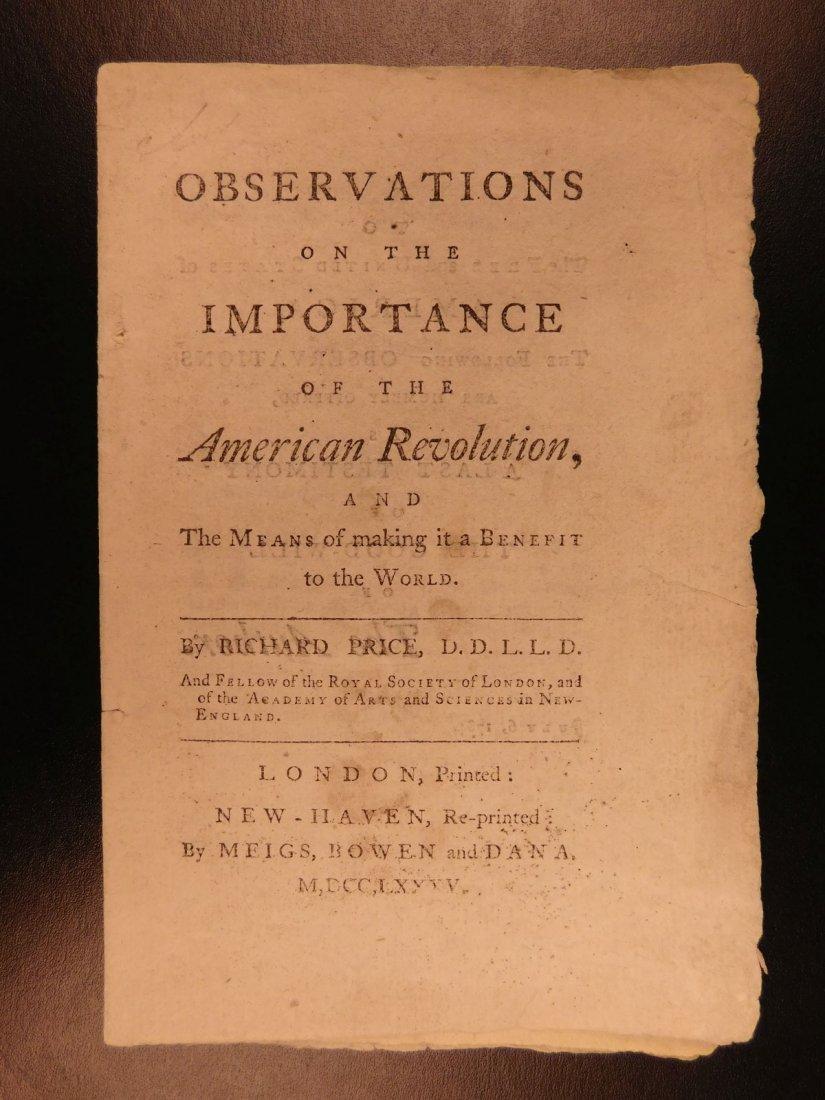 1785 1st ed RARE Importance of American Revolution - 2