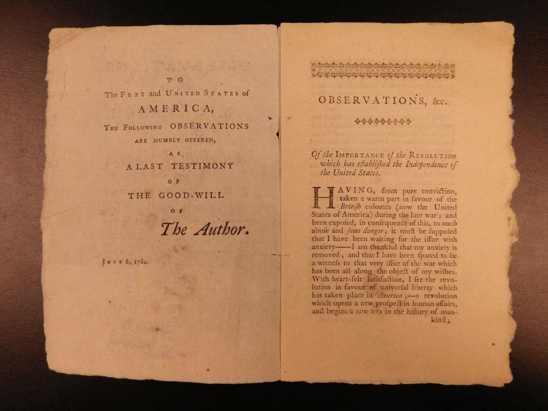 1785 1st ed RARE Importance of American Revolution - 3