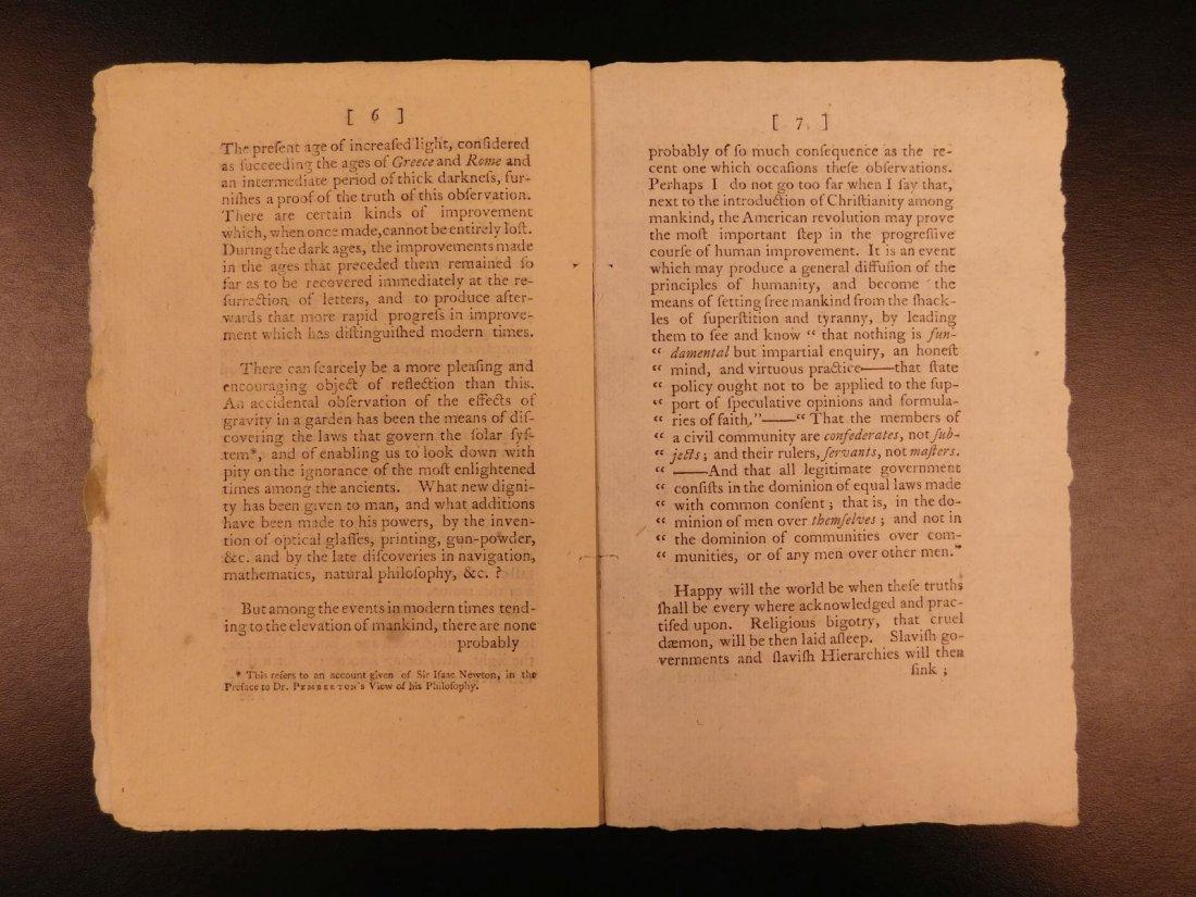 1785 1st ed RARE Importance of American Revolution - 5
