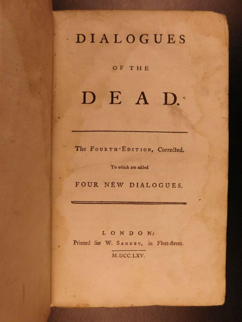 1765 Dialogues of the Dead Lyttelton Mythology Plato - 2