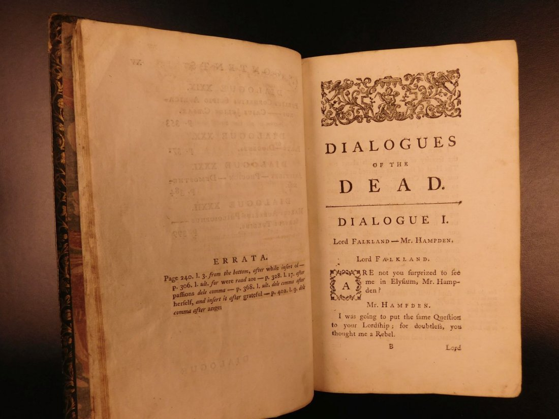 1765 Dialogues of the Dead Lyttelton Mythology Plato - 7