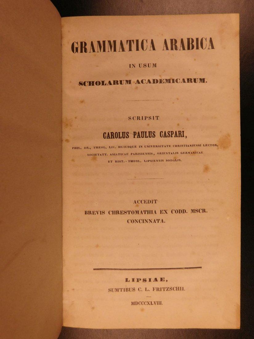 1848 Grammatica Arabica Carl Paul Caspari Arabic BIBLE - 2