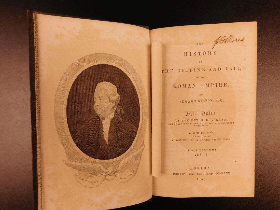 1850 Famed Edward Gibbon Decline & Fall of Roman Empire - 3