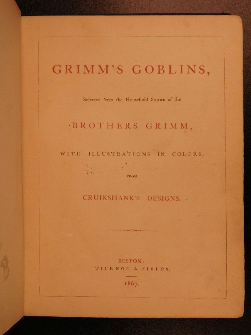 1867 Grimm's Goblins Fairy Tales Illustrated Cruikshank - 2