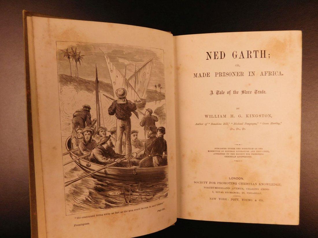 1885 1st ed Africa Slave Trade Ned Garth Prisoner - 2
