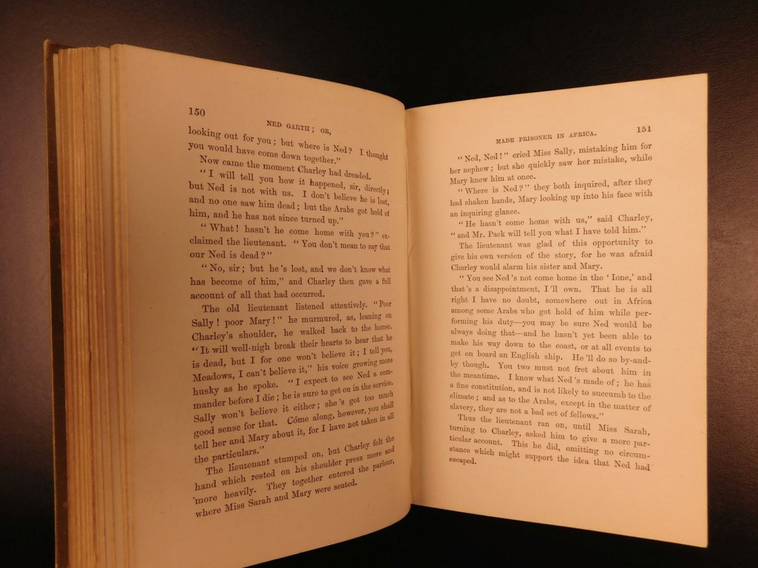 1885 1st ed Africa Slave Trade Ned Garth Prisoner - 5