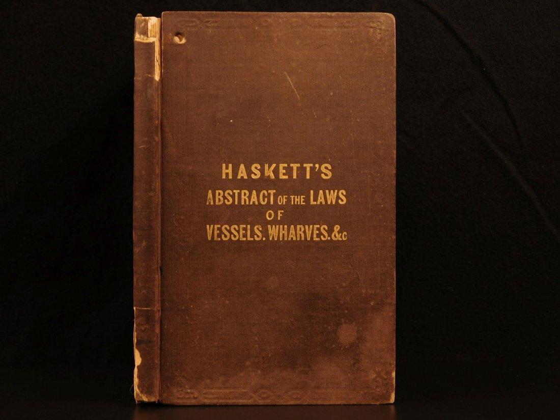 1845 NEW YORK Marine Laws Ships Wharfs Harbors Boats