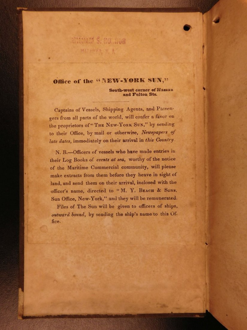 1845 NEW YORK Marine Laws Ships Wharfs Harbors Boats - 2