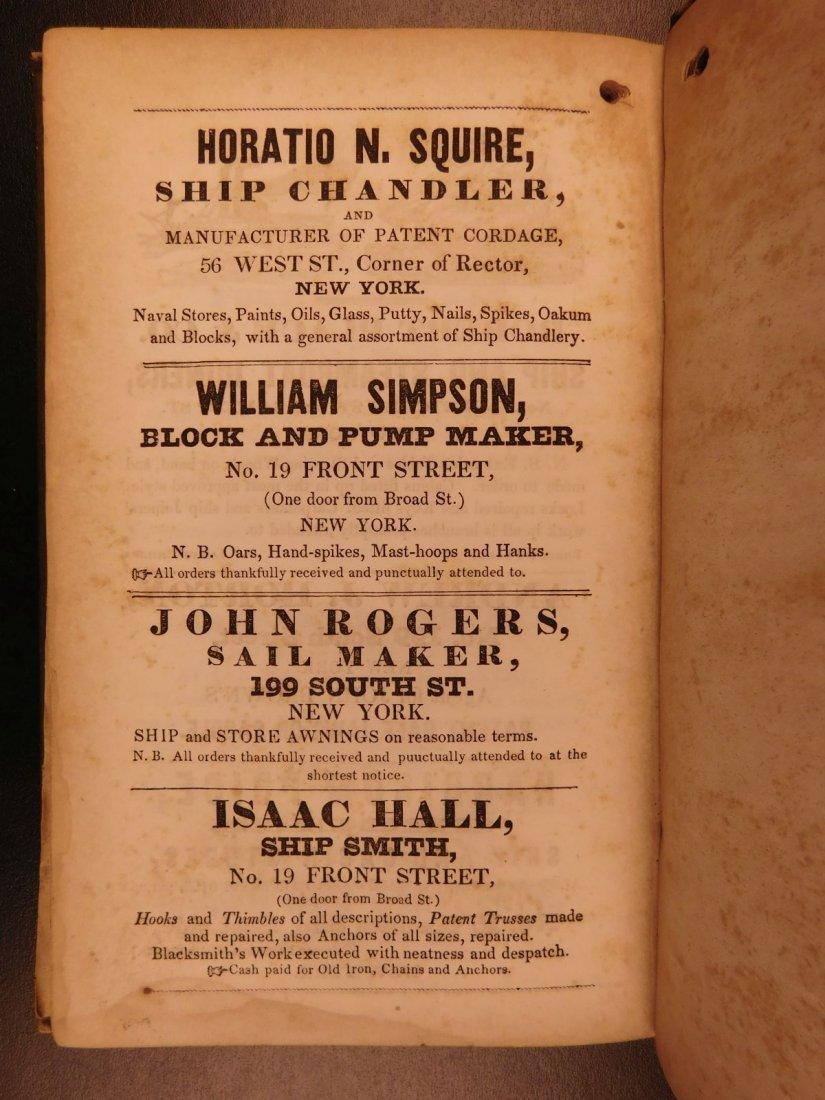 1845 NEW YORK Marine Laws Ships Wharfs Harbors Boats - 9