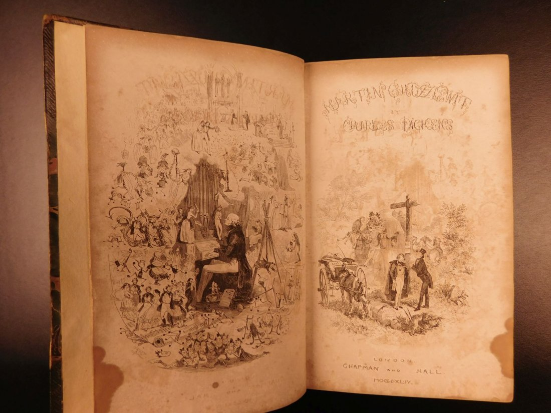 1844 1st ed Martin Chuzzlewit Charles Dickens English - 2
