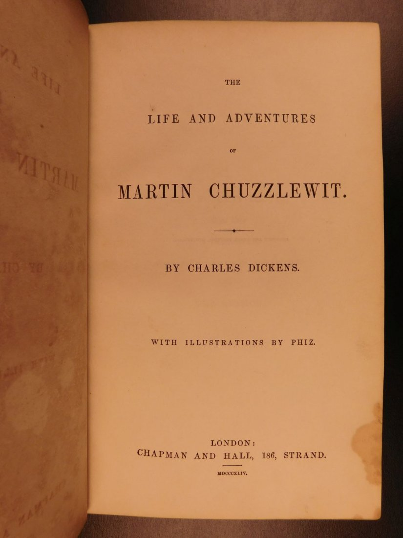1844 1st ed Martin Chuzzlewit Charles Dickens English - 3