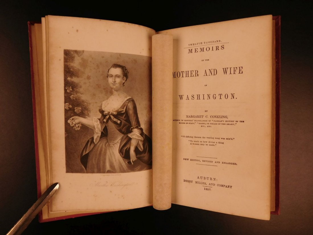 1852 Memoirs of George Washington Mother & Wife - 2