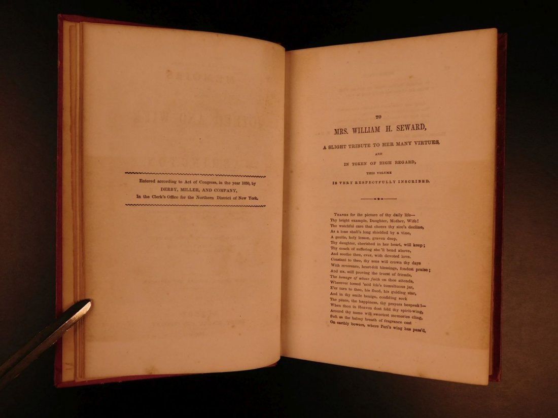 1852 Memoirs of George Washington Mother & Wife - 3