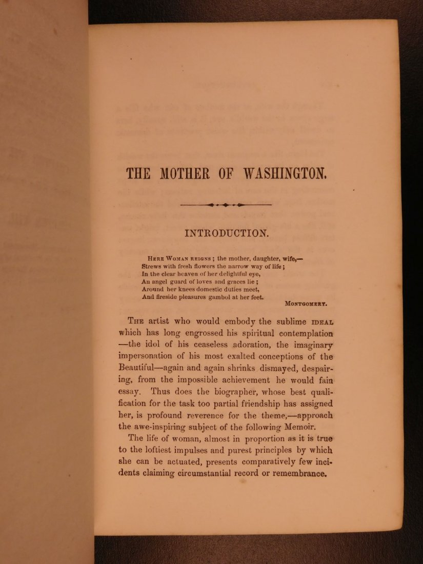 1852 Memoirs of George Washington Mother & Wife - 5