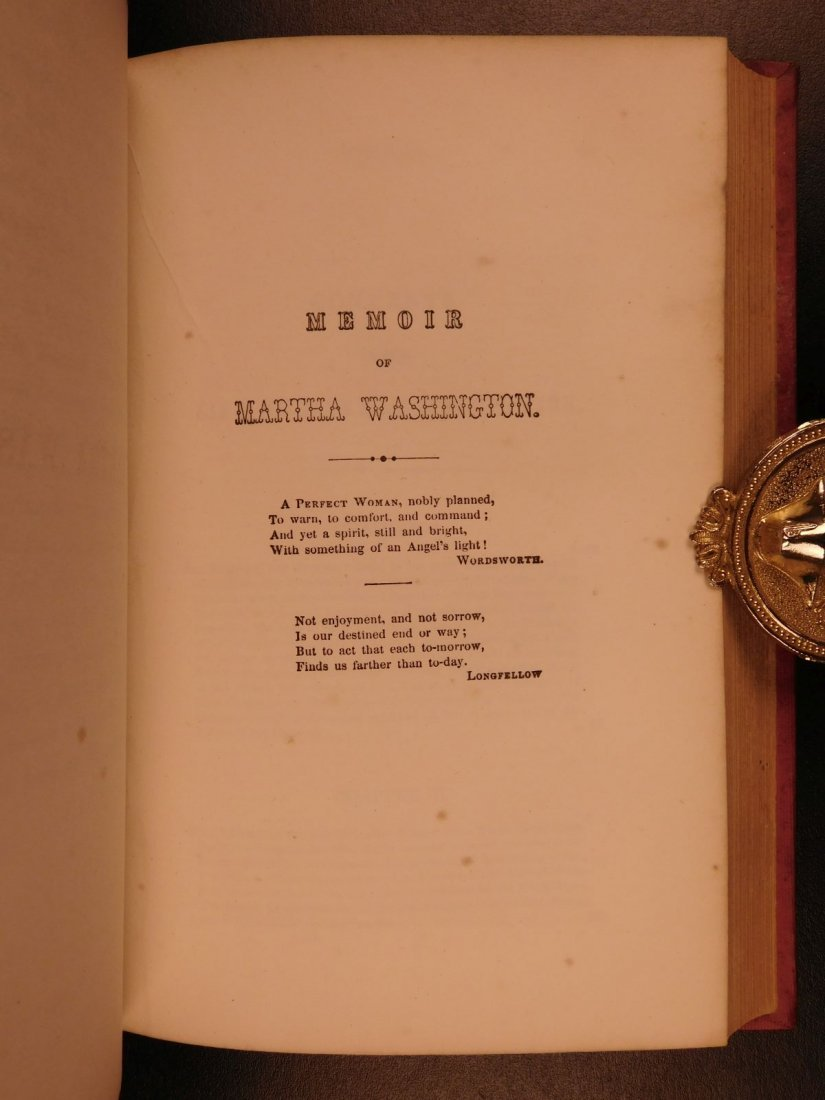 1852 Memoirs of George Washington Mother & Wife - 7