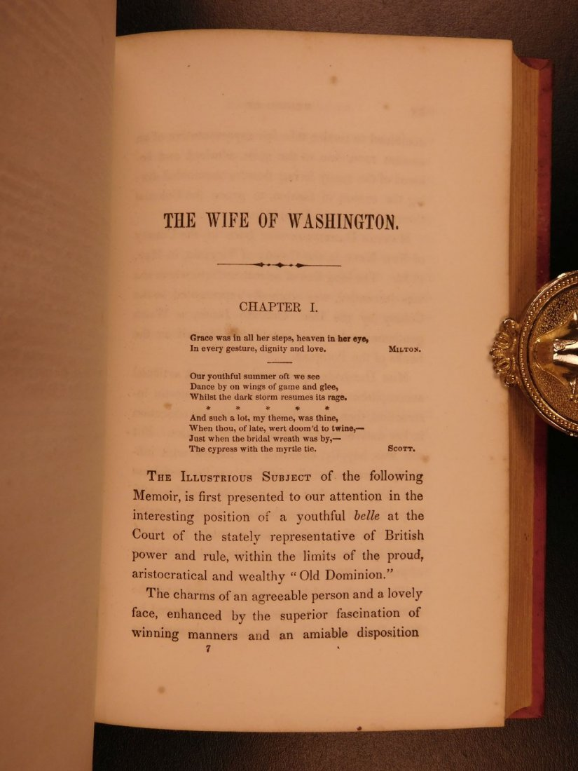1852 Memoirs of George Washington Mother & Wife - 8