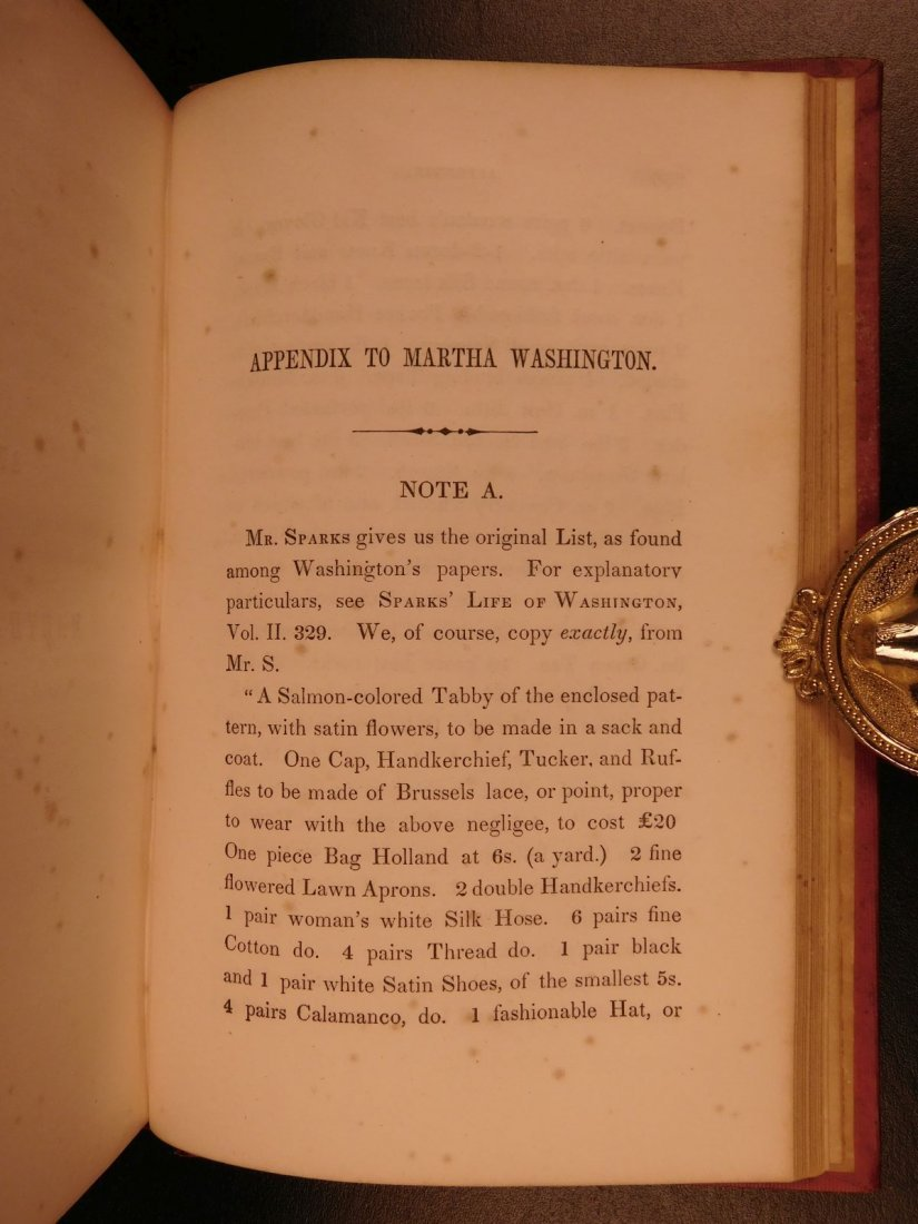1852 Memoirs of George Washington Mother & Wife - 9