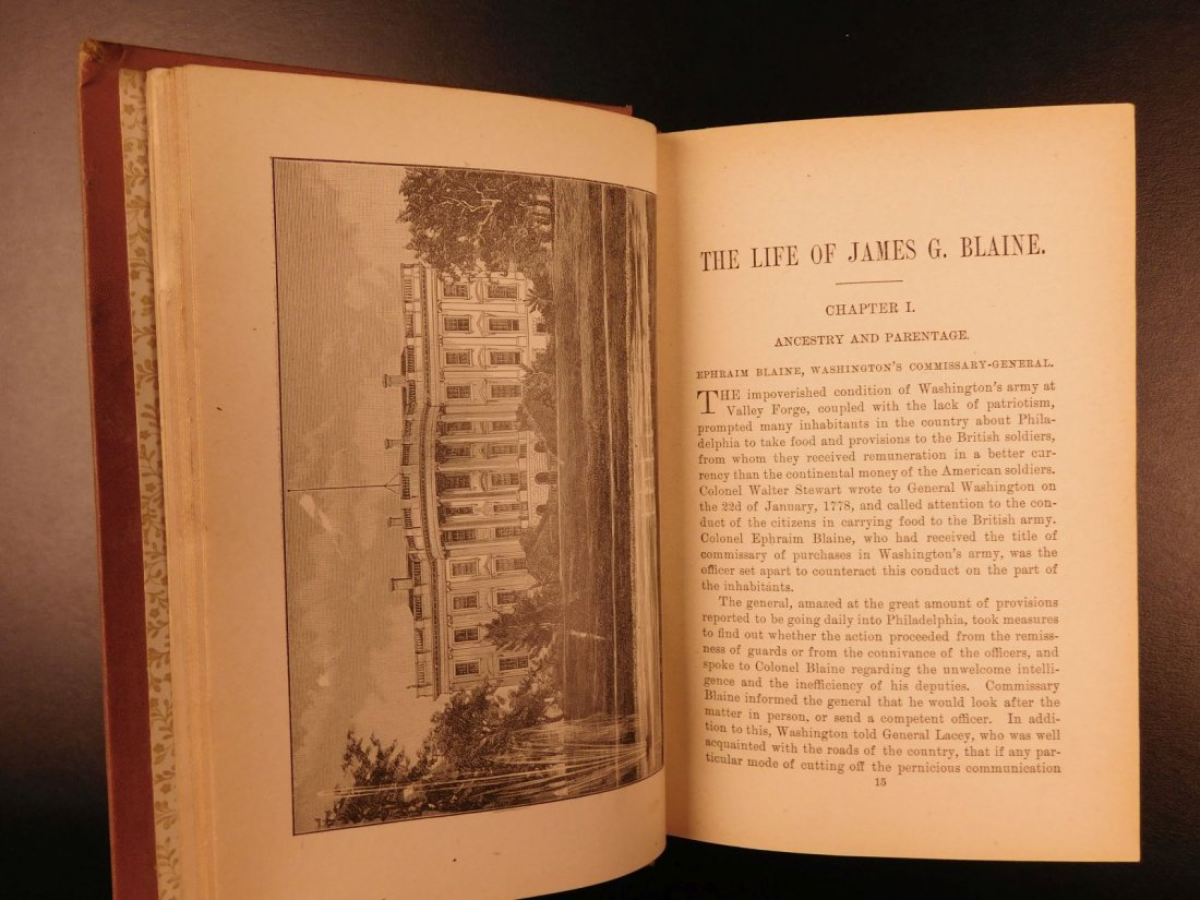 1884 REPUBLICAN Party History & Life of James G Blaine - 4