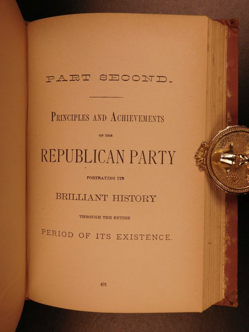 1884 REPUBLICAN Party History & Life of James G Blaine - 8