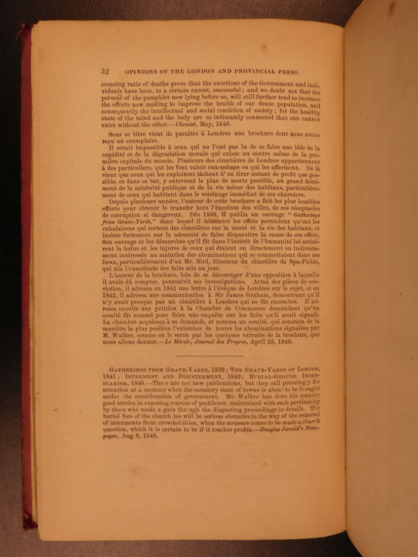 1847 1st ed Medicine Treatment of Ulcers Fumigation - 10