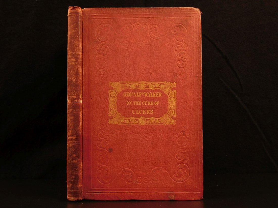 1847 1st ed Medicine Treatment of Ulcers Fumigation