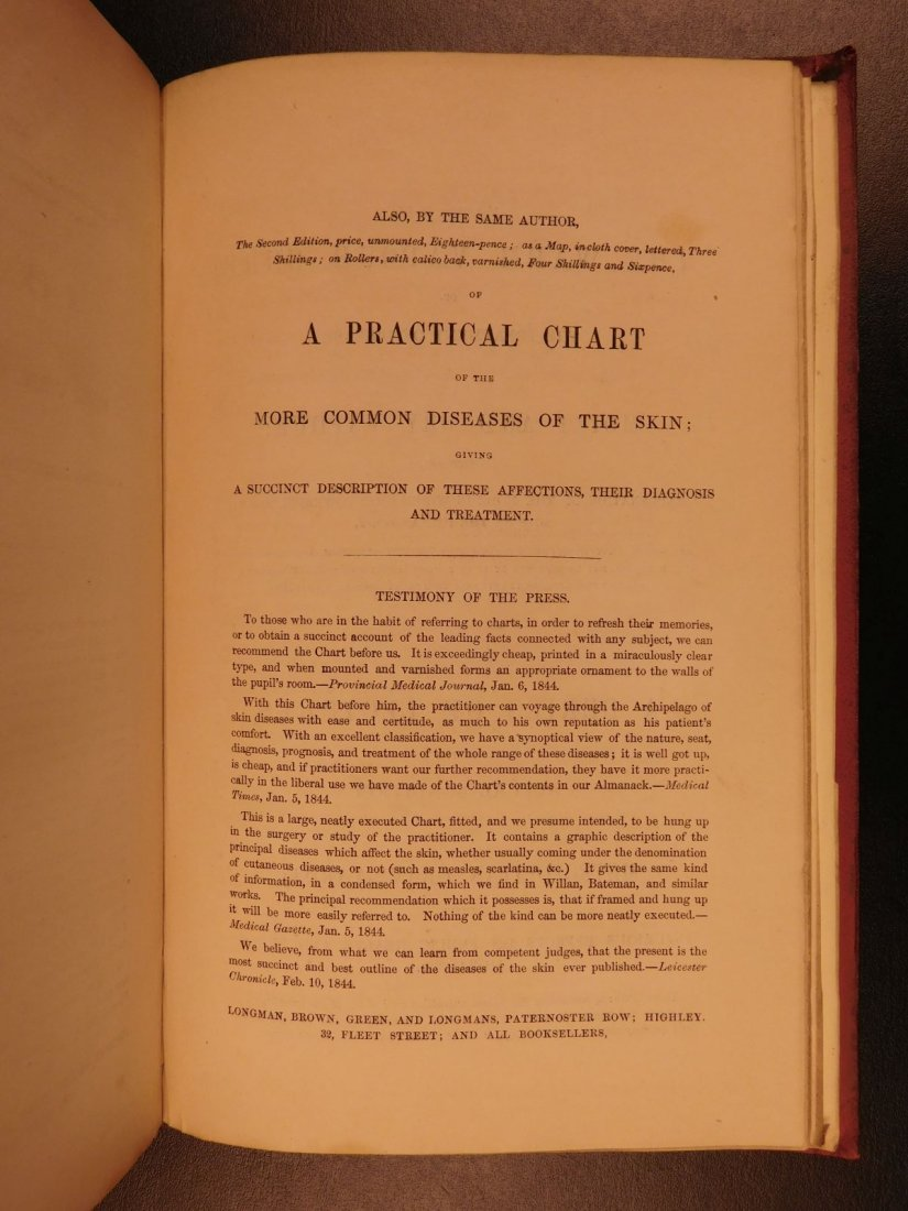 1847 1st ed Medicine Treatment of Ulcers Fumigation - 9