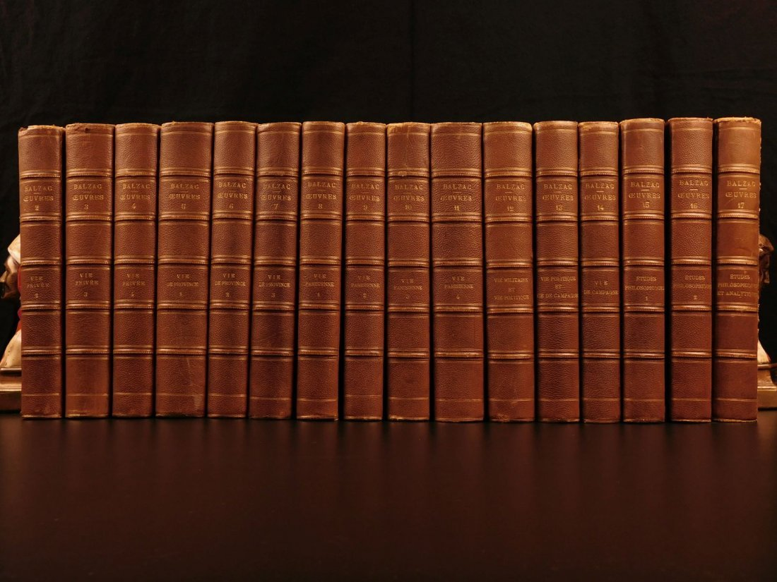 1875 Complete Works of Honore de Balzac French