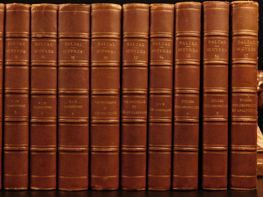 1875 Complete Works of Honore de Balzac French - 3