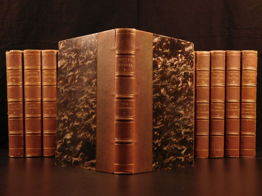 1875 Complete Works of Honore de Balzac French - 4
