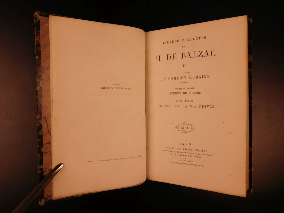 1875 Complete Works of Honore de Balzac French - 5