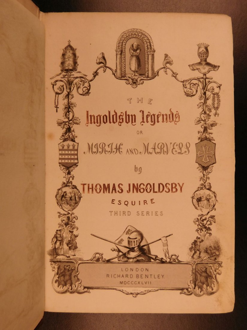 1847 Ingoldsby Legends Occult Ghosts Devils Cruikshank - 2
