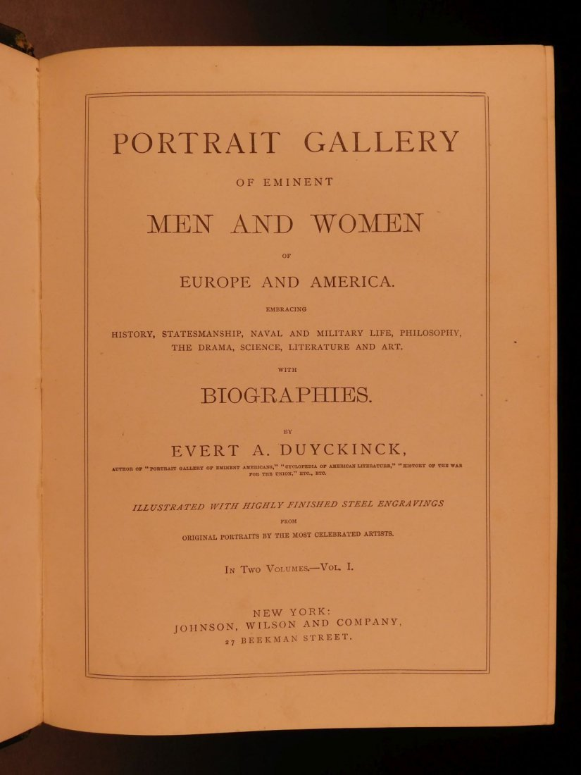 1861 1ed Portrait Gallery Illustrated Lincoln Grant - 2
