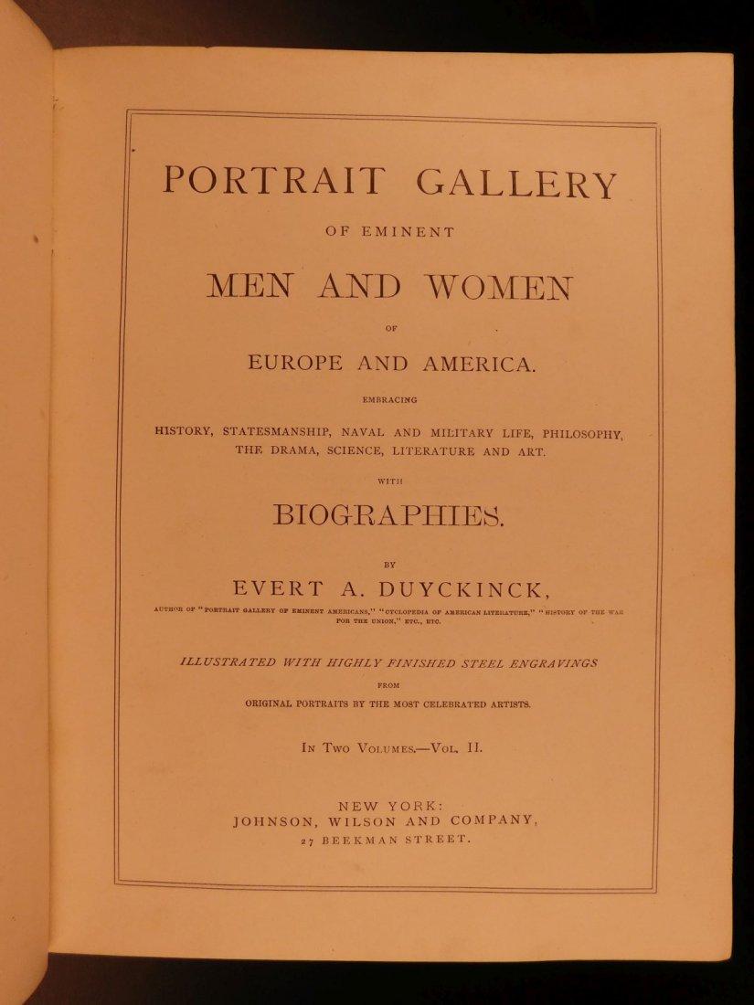 1861 1ed Portrait Gallery Illustrated Lincoln Grant - 6