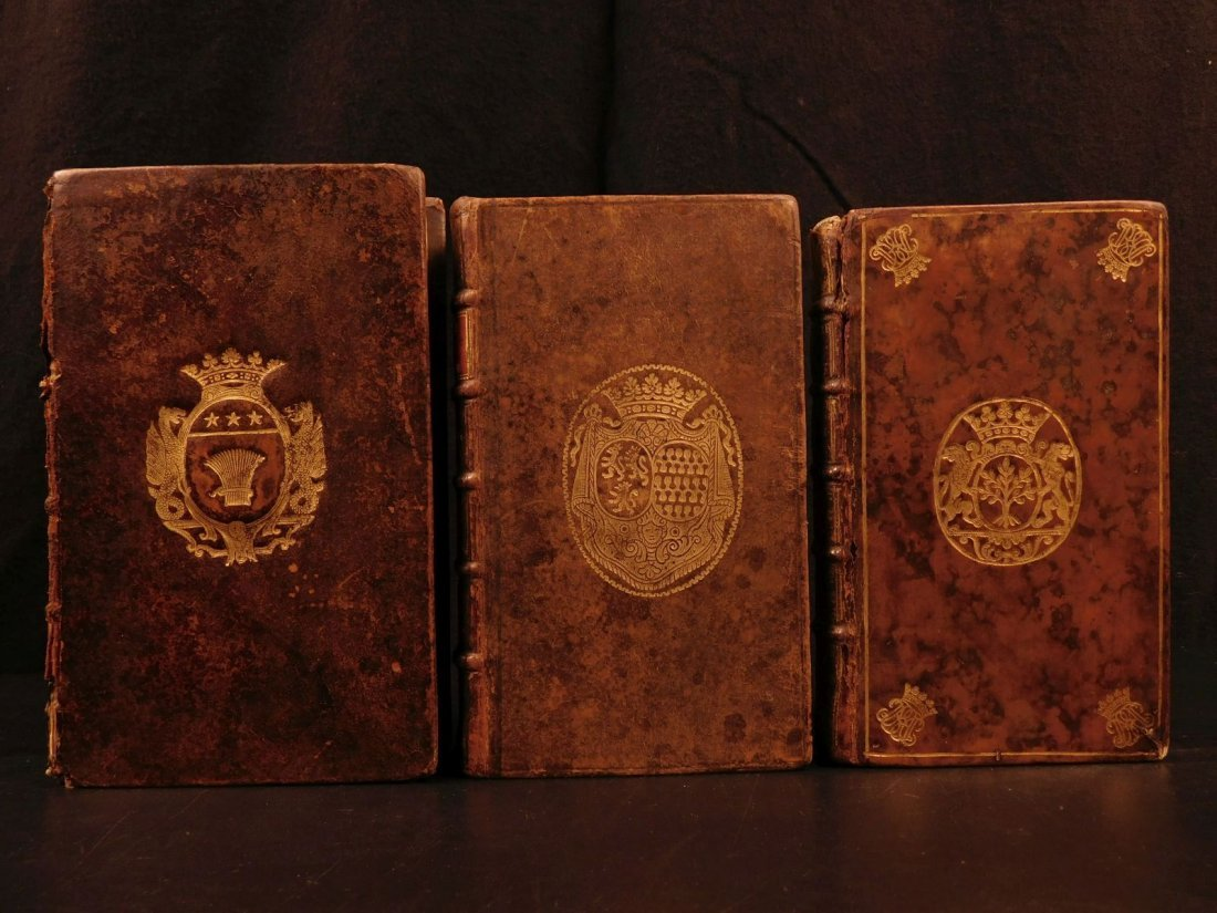 1683 Armorial Book Lot ARMS Turkish Emperors Rycaut