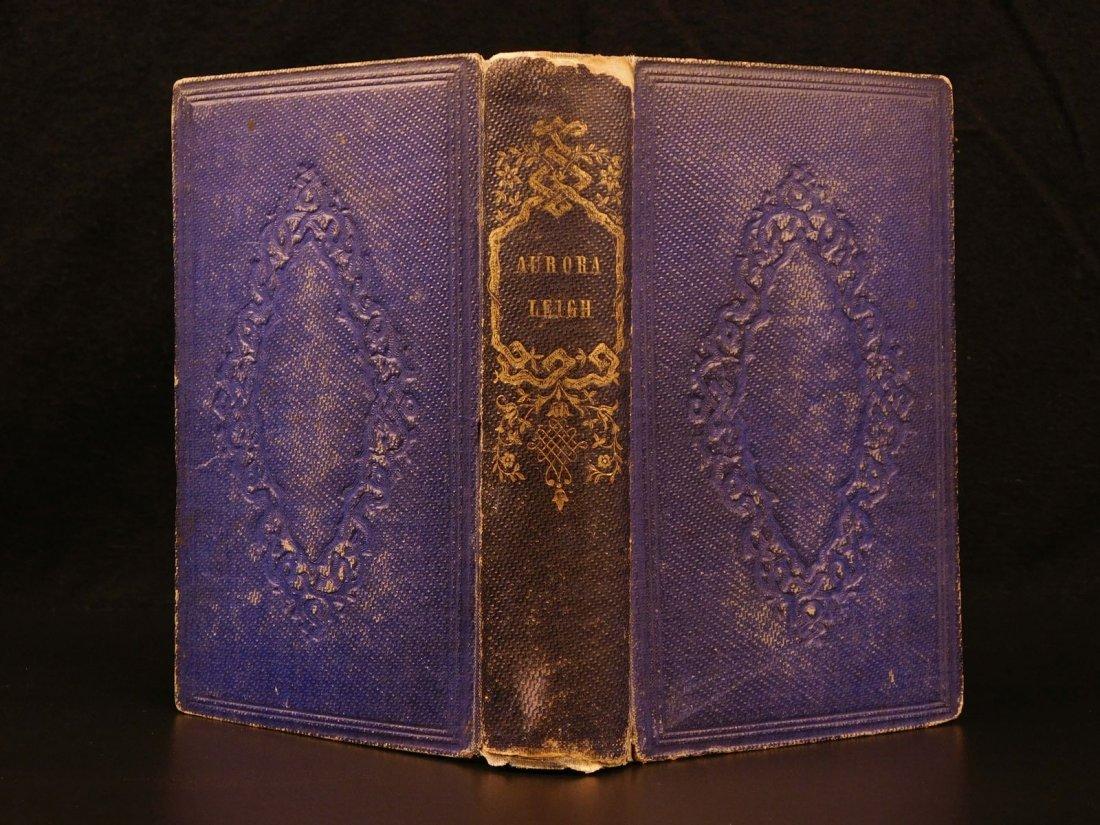 1857 1st edition Aurora Leigh Elizabeth Barrett