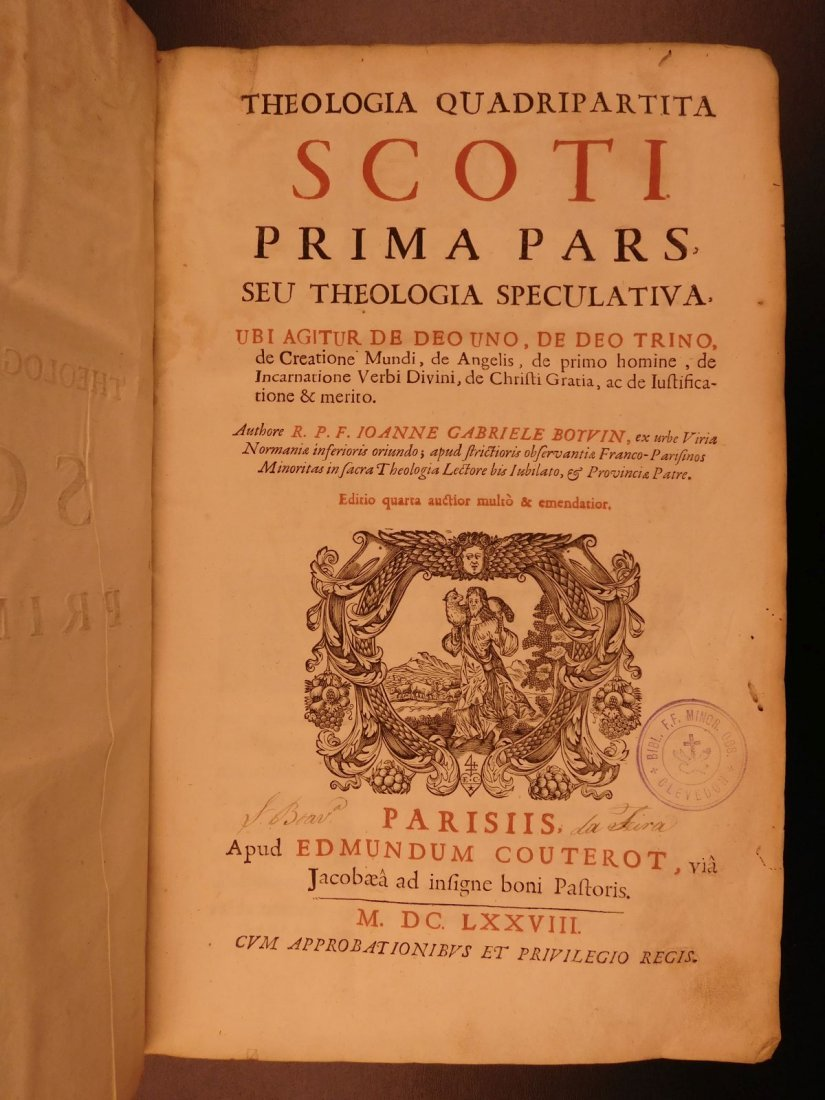 1678 Boyvin Theologia SCOTI Philosophy Metaphysics - 2