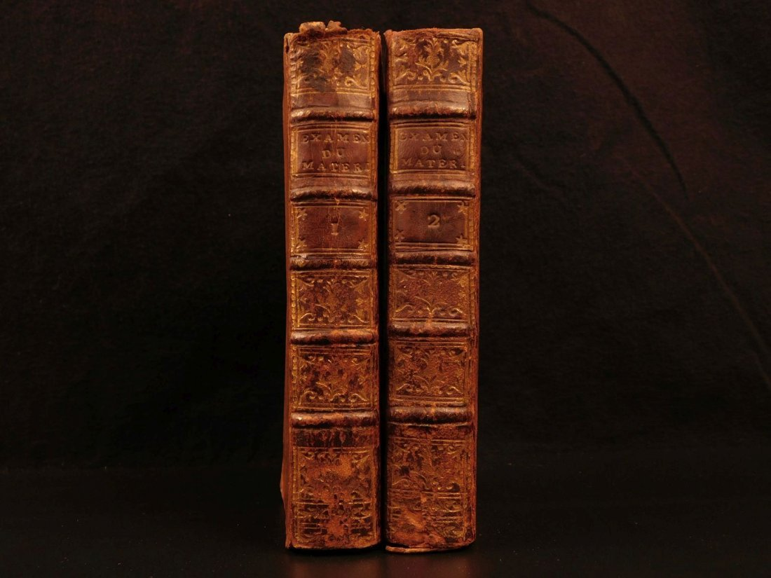 1772 Bergier Examen du Materialism Christianity Defense