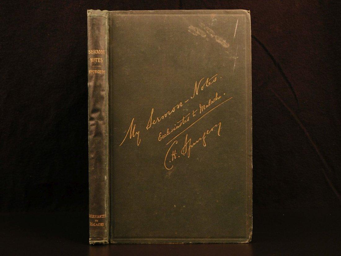 1885 Charles Spurgeon BIBLE Sermon Notes Gospels OT