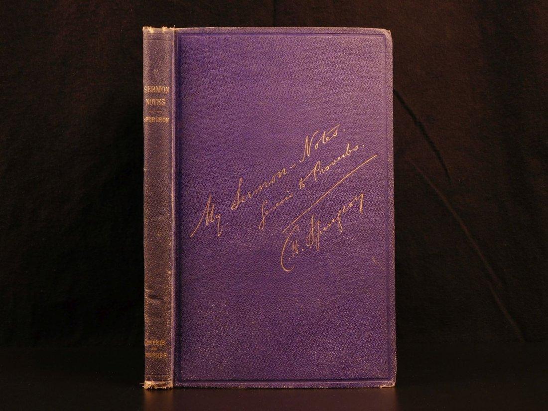 1884 Charles Spurgeon BIBLE Sermon Notes Gospels OT