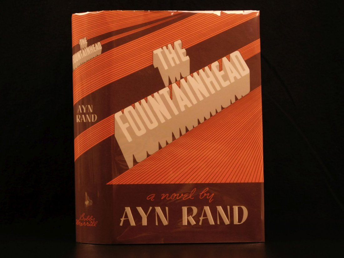 1943 1st ed Fountainhead by Ayn Rand Objectivism