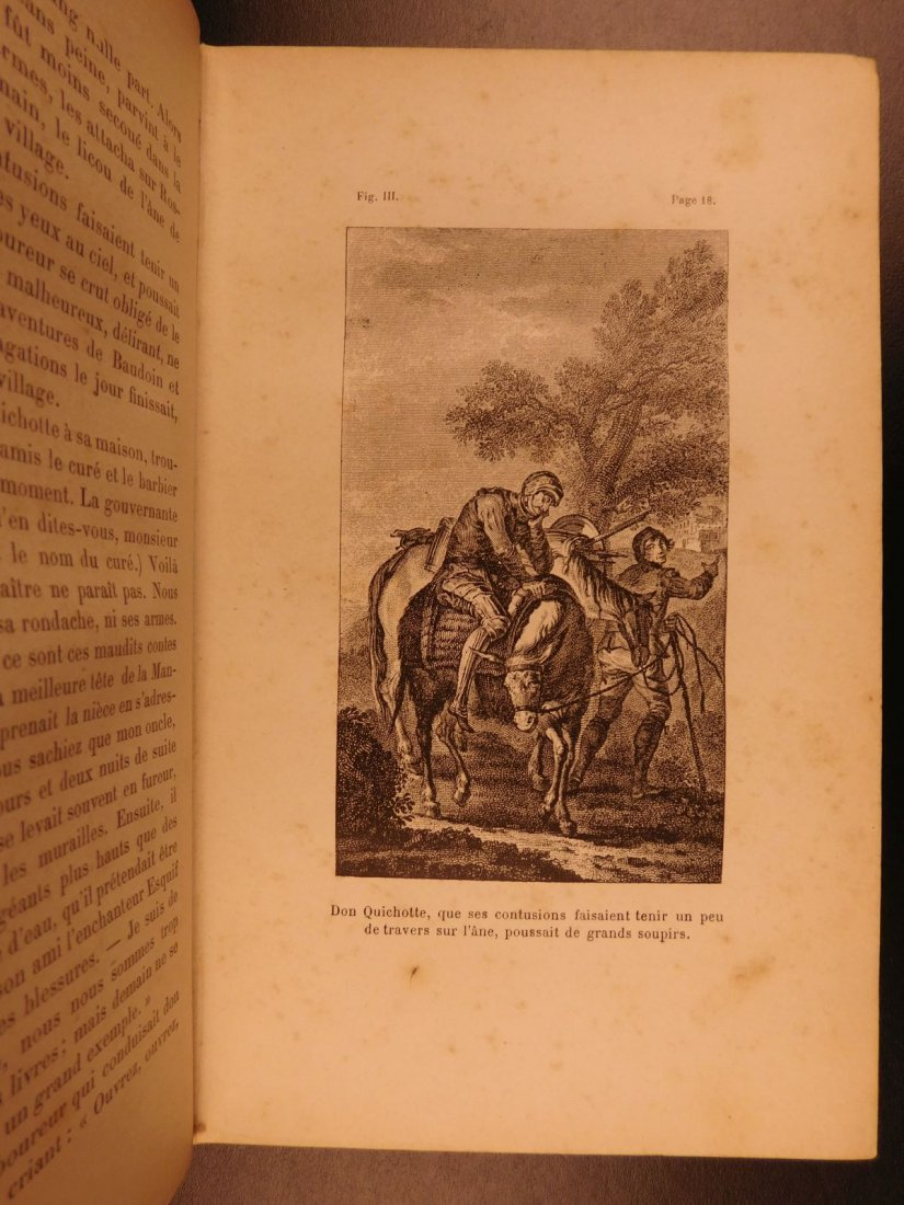 1880 EXQUISITE Don Quixote Cervantes Engel BINDING - 4