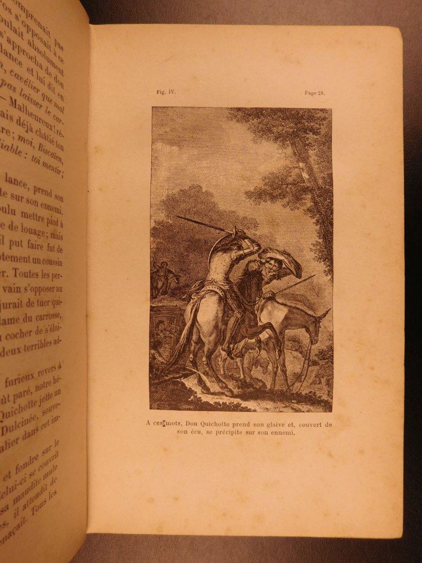 1880 EXQUISITE Don Quixote Cervantes Engel BINDING - 5