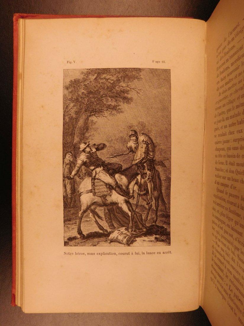 1880 EXQUISITE Don Quixote Cervantes Engel BINDING - 6