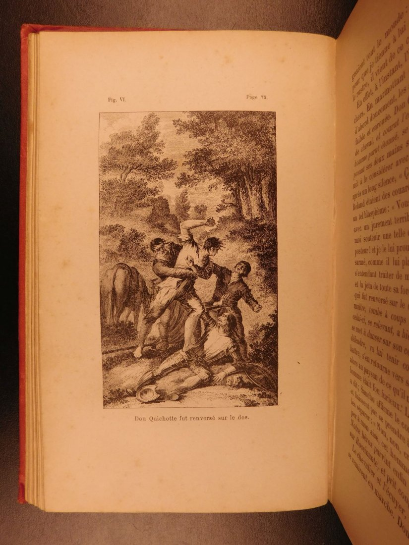 1880 EXQUISITE Don Quixote Cervantes Engel BINDING - 7
