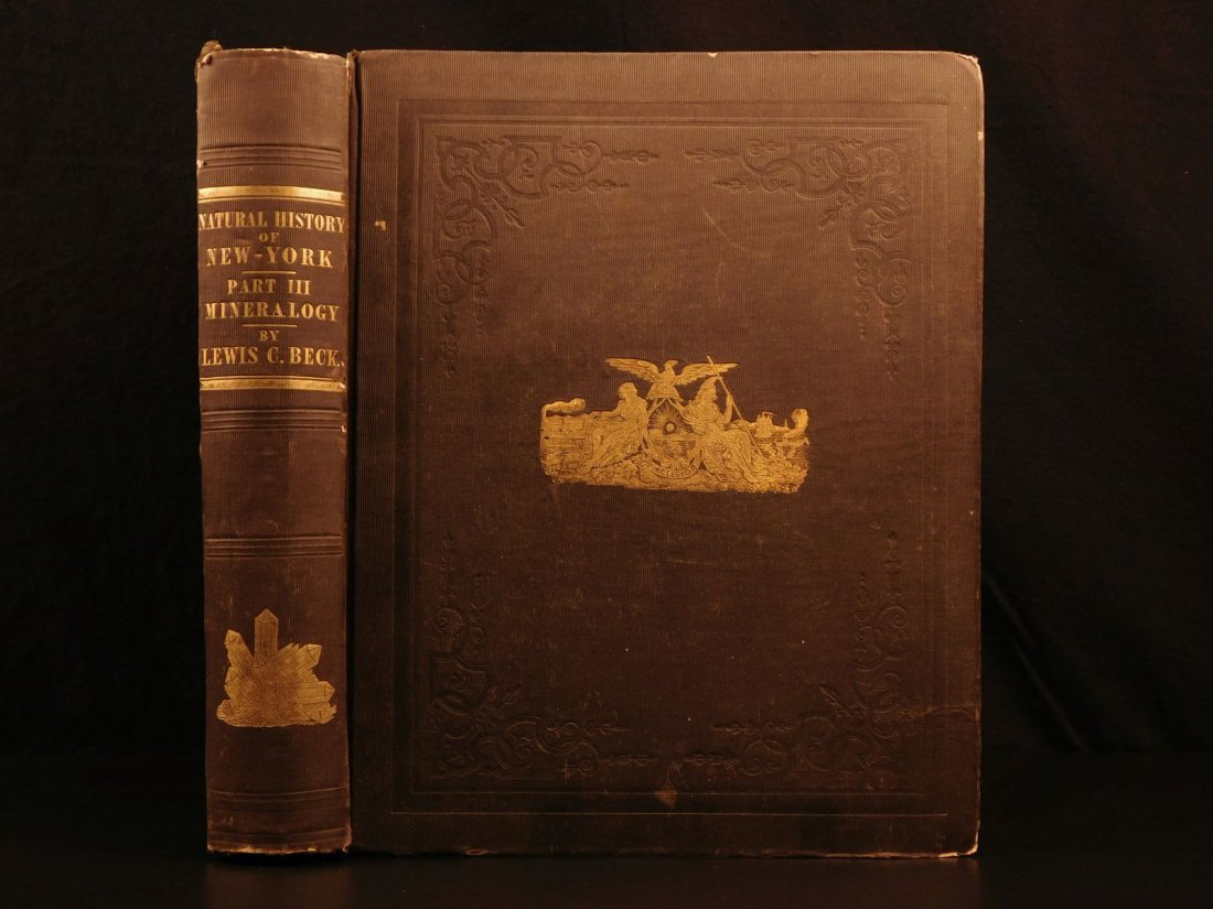 1842 NEW YORK Natural History Minerology Geology