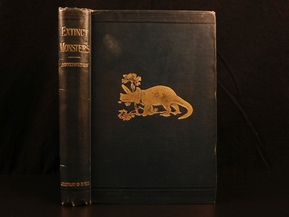 1893 Extinct Monsters Illustrated DINOSAURS Prehistoric