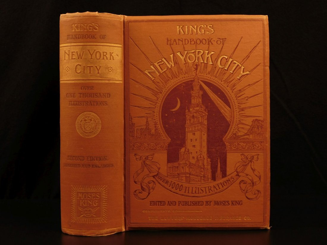 1893 New York City Moses King's NYC Illustrated 1000