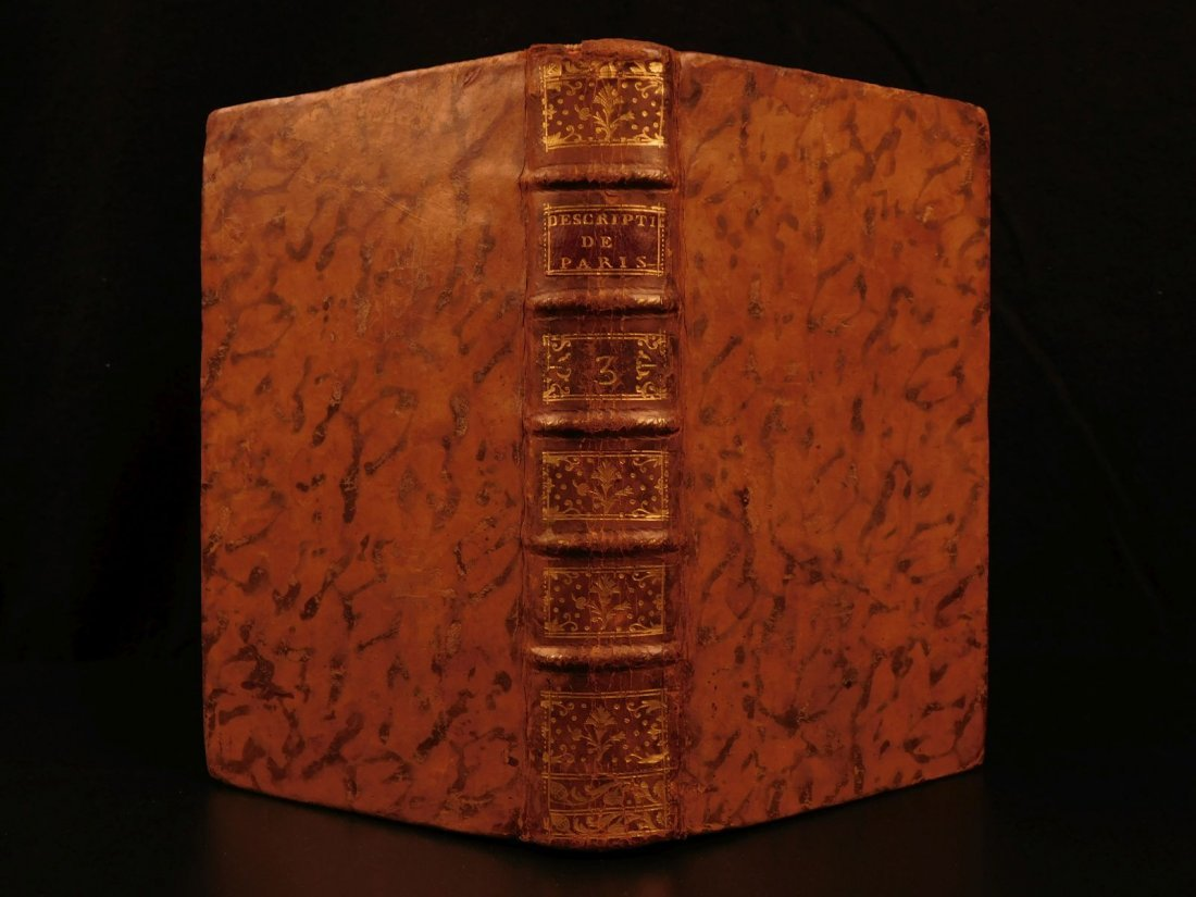 1752 Paris France Brice Illustrated Luxembourg Palace